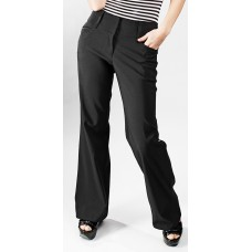 Ladies Black Olson Low Rise Curling Stretch Trousers