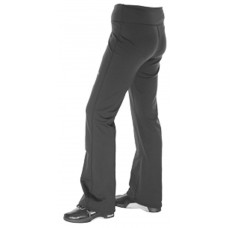 Ladies Black Balance Plus Curling Yoga Style Trousers
