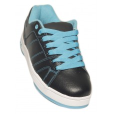 """Olson Ladies Fly Bali Blue Curling Shoes with 3/32"""" Flex Slider"""